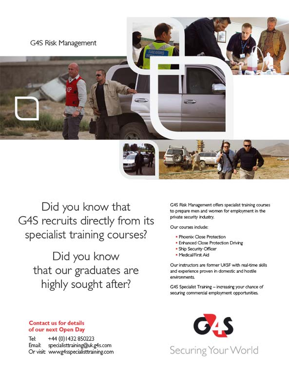 G4S full page advertisement