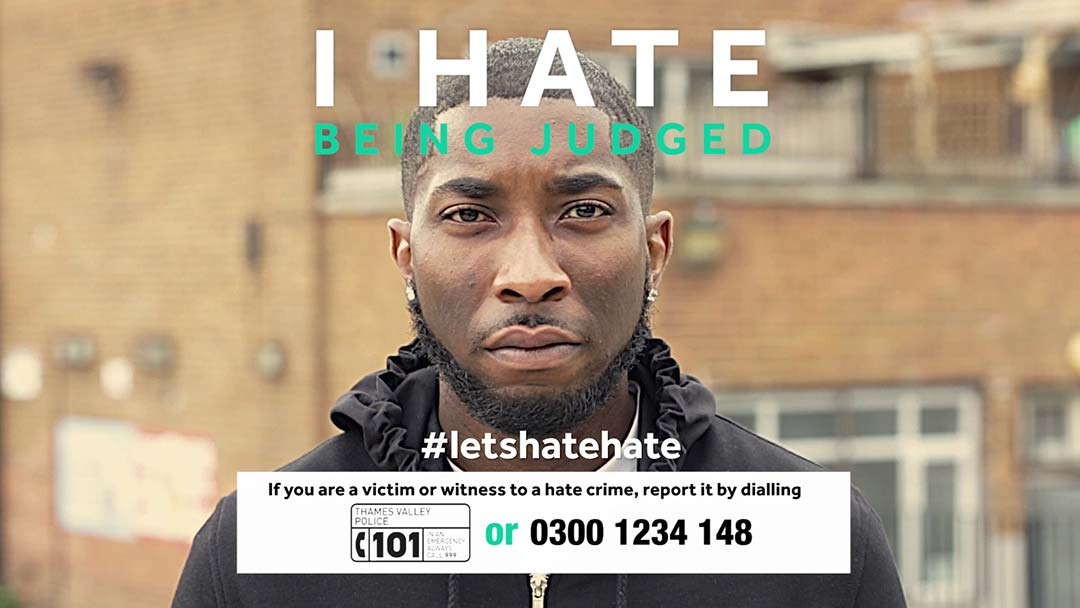 Thames Valley Police - Lets Hate Hate Campaign screen grab